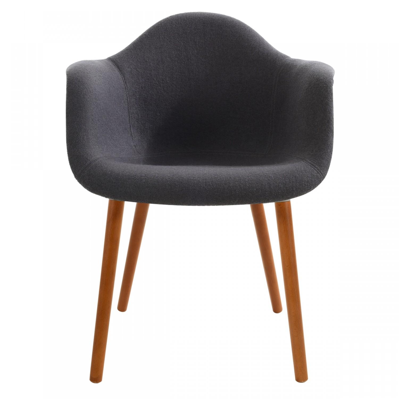 Fauteuil jeanne gris fonce koya design for Chaises jeanne