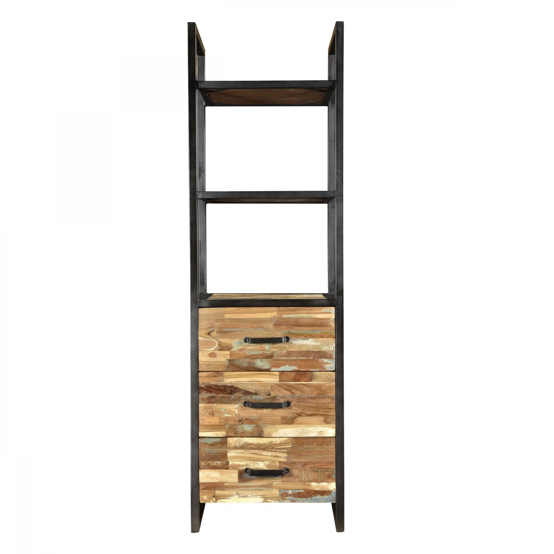 etag re colonne en bois recycl et m tal koya design