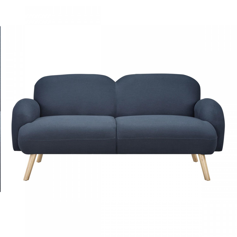 canap melbourne 2 places bleu nuit koya design. Black Bedroom Furniture Sets. Home Design Ideas
