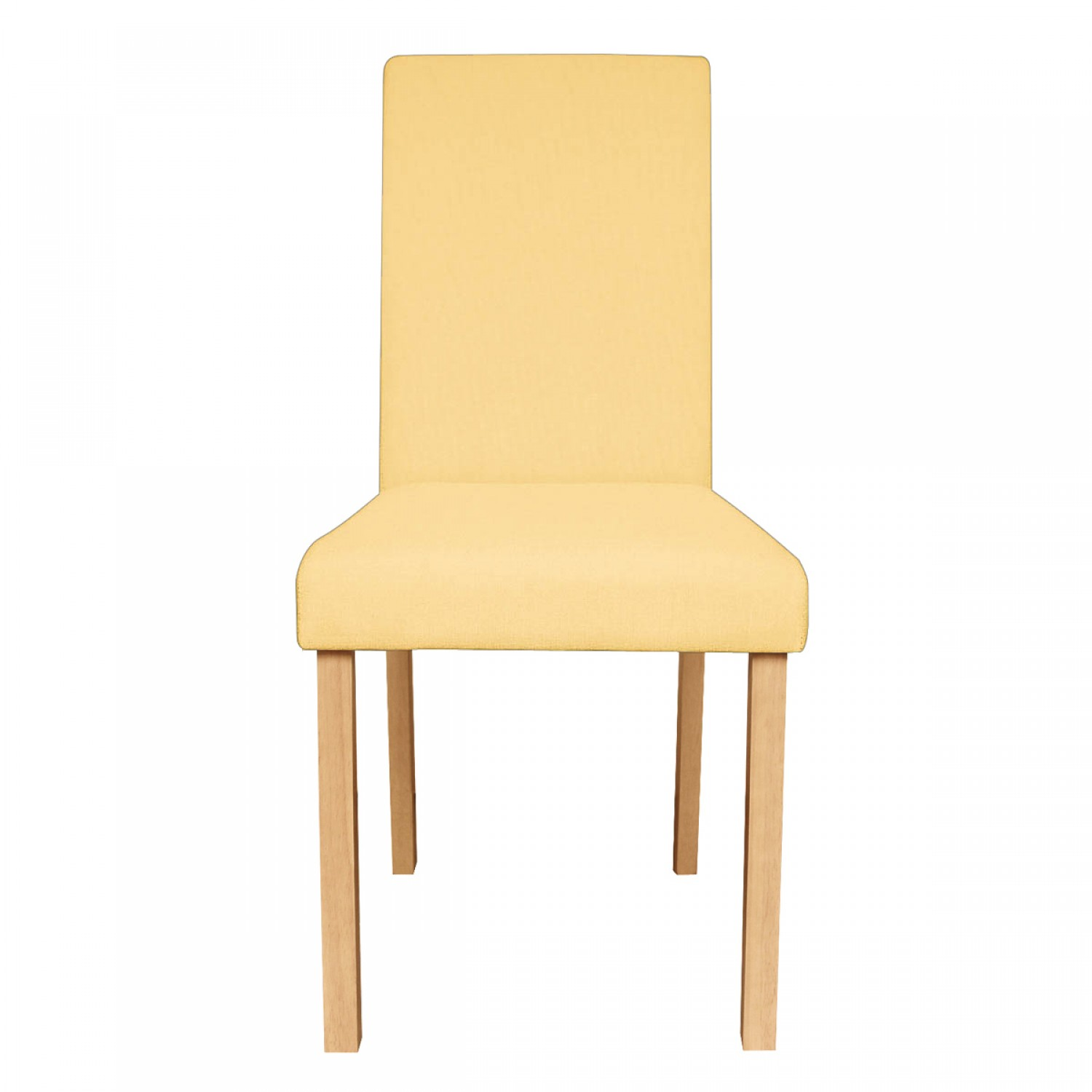 Chaise de salon en tissu jaune lot de 2 koya design for Chaise de cuisine jaune