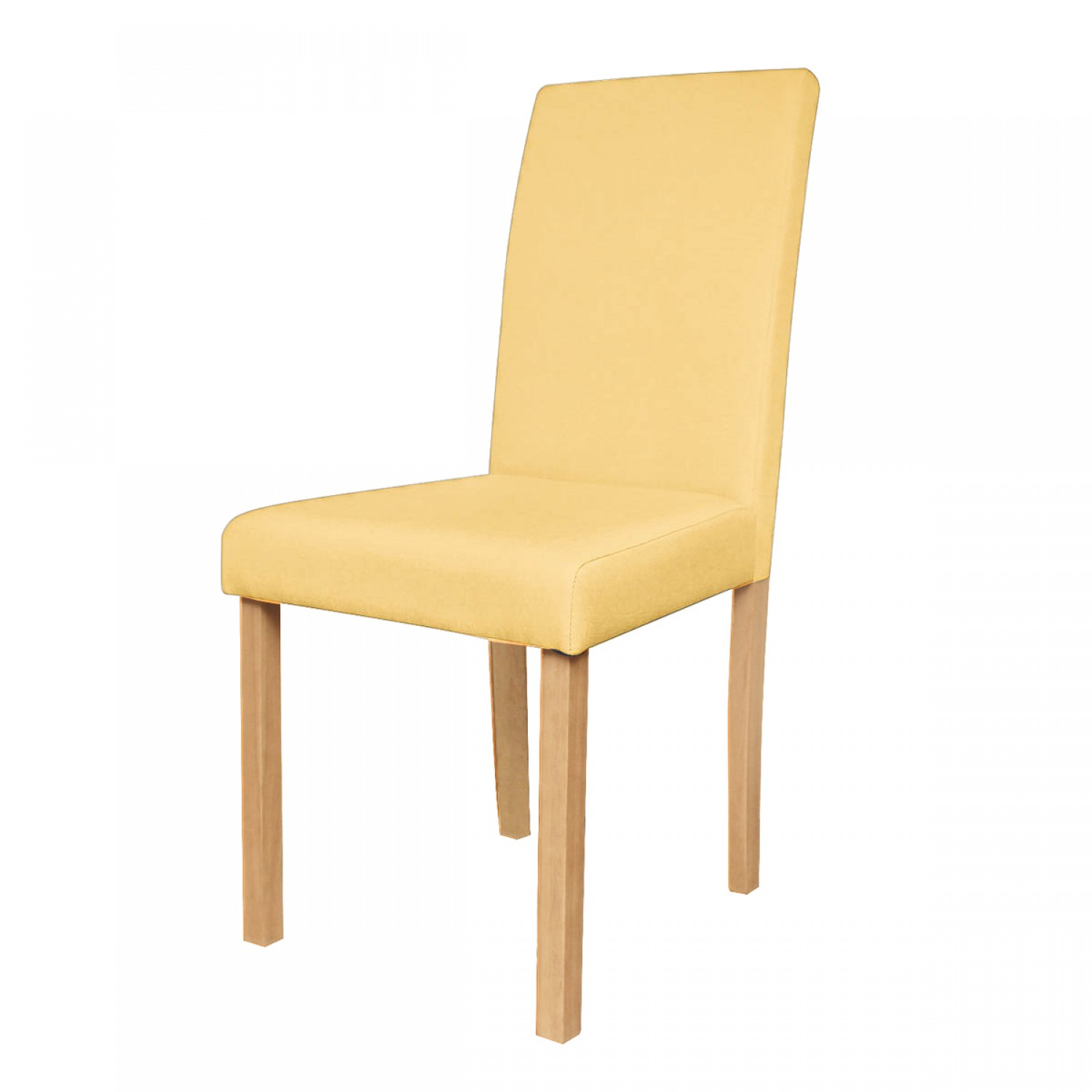Chaise de salon en tissu jaune lot de 2 koya design for Chaise en tissu