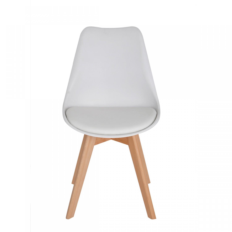 Chaise Scandinave blanche (lot de 2) - Koya design