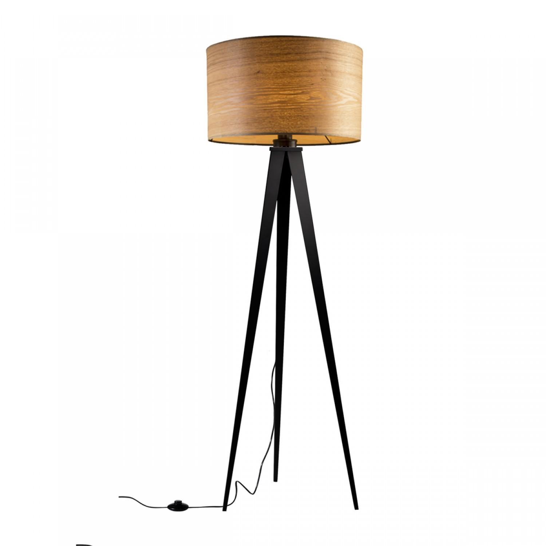 Lampadaire tr pied bois k lla koya design for Lampadaire exterieur bois