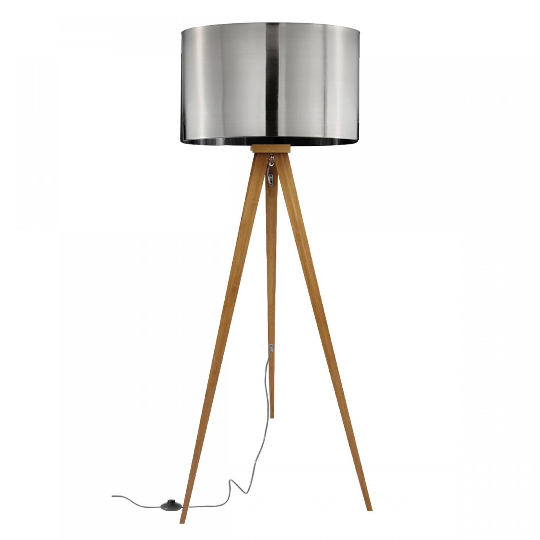 Lampadaire tr pied bois metal k lla koya design for Lampadaire interieur bois