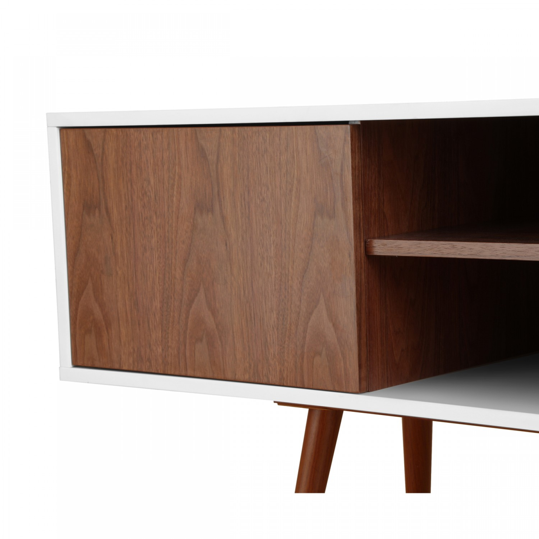 Meuble Tv Noyer Design Ensemble Meuble Tv Couleur Ch Ne Clair Et  # Meuble Tv Noyer Et Blanc
