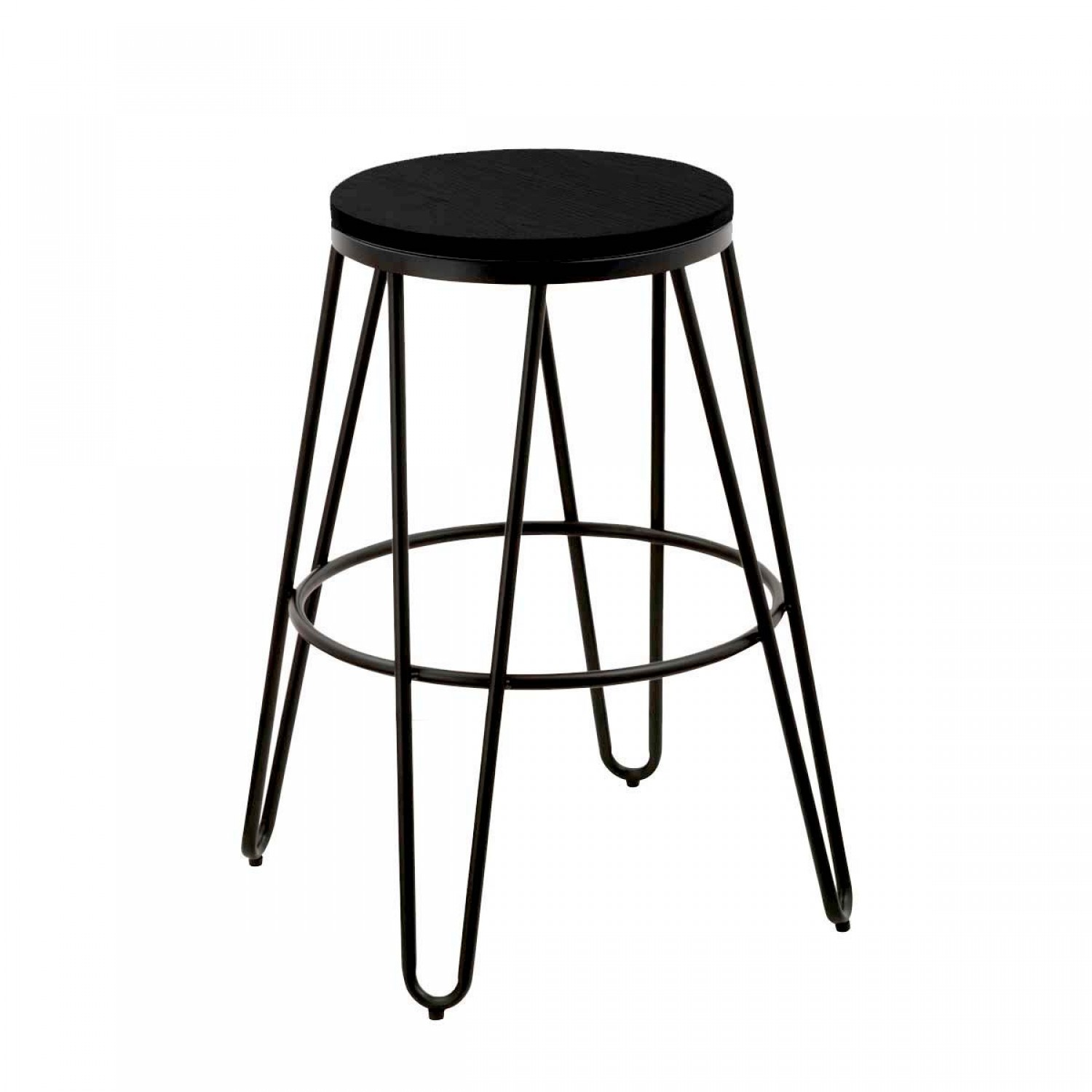 tabouret de bar loft noir lot de 2 koya design. Black Bedroom Furniture Sets. Home Design Ideas