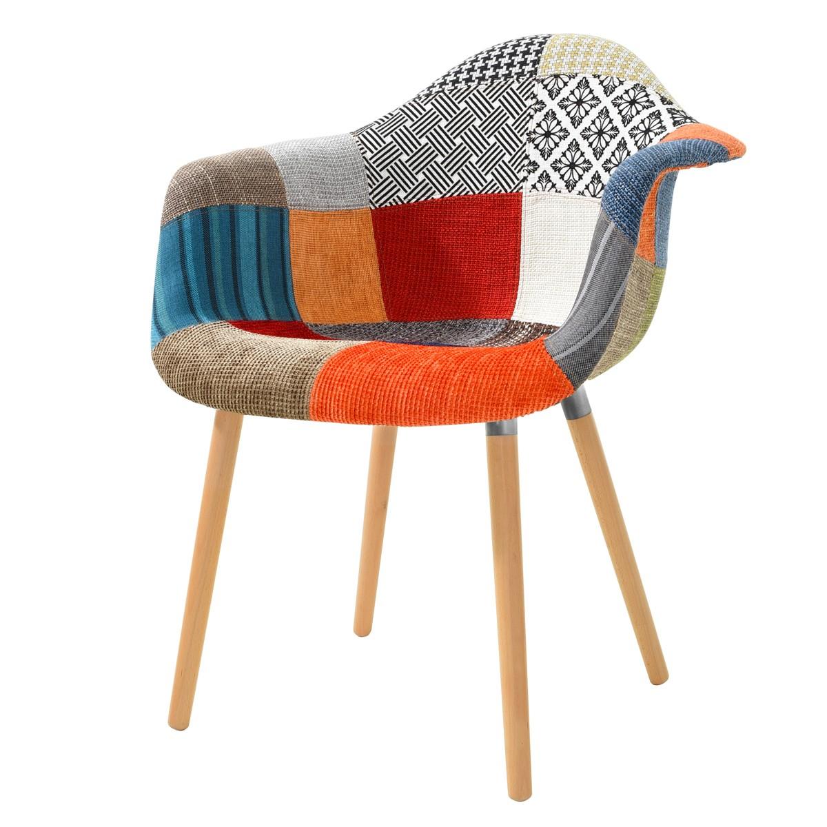 Fauteuil rebecca patchwork koya design - Fauteuil salon design ...