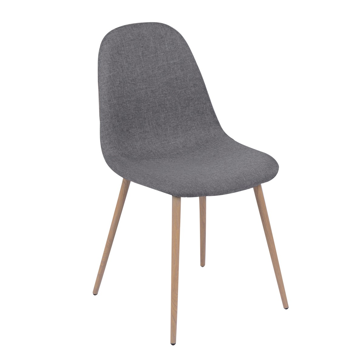 Chaise olga grise lot de 2 koya design - Chaise de bar grise ...