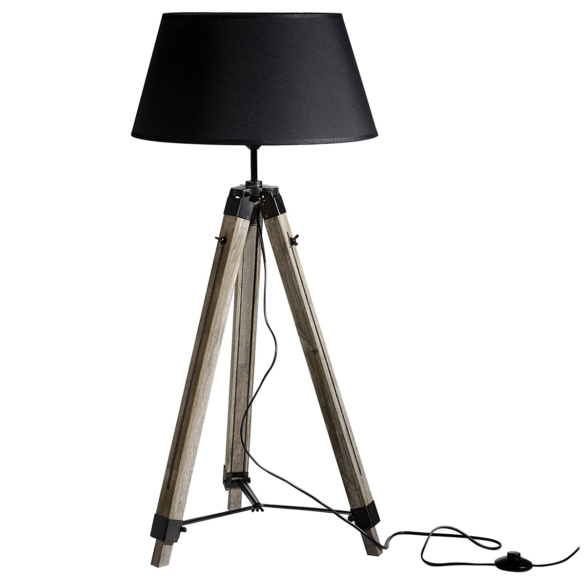 lampadaire tr pied navy bois koya design. Black Bedroom Furniture Sets. Home Design Ideas
