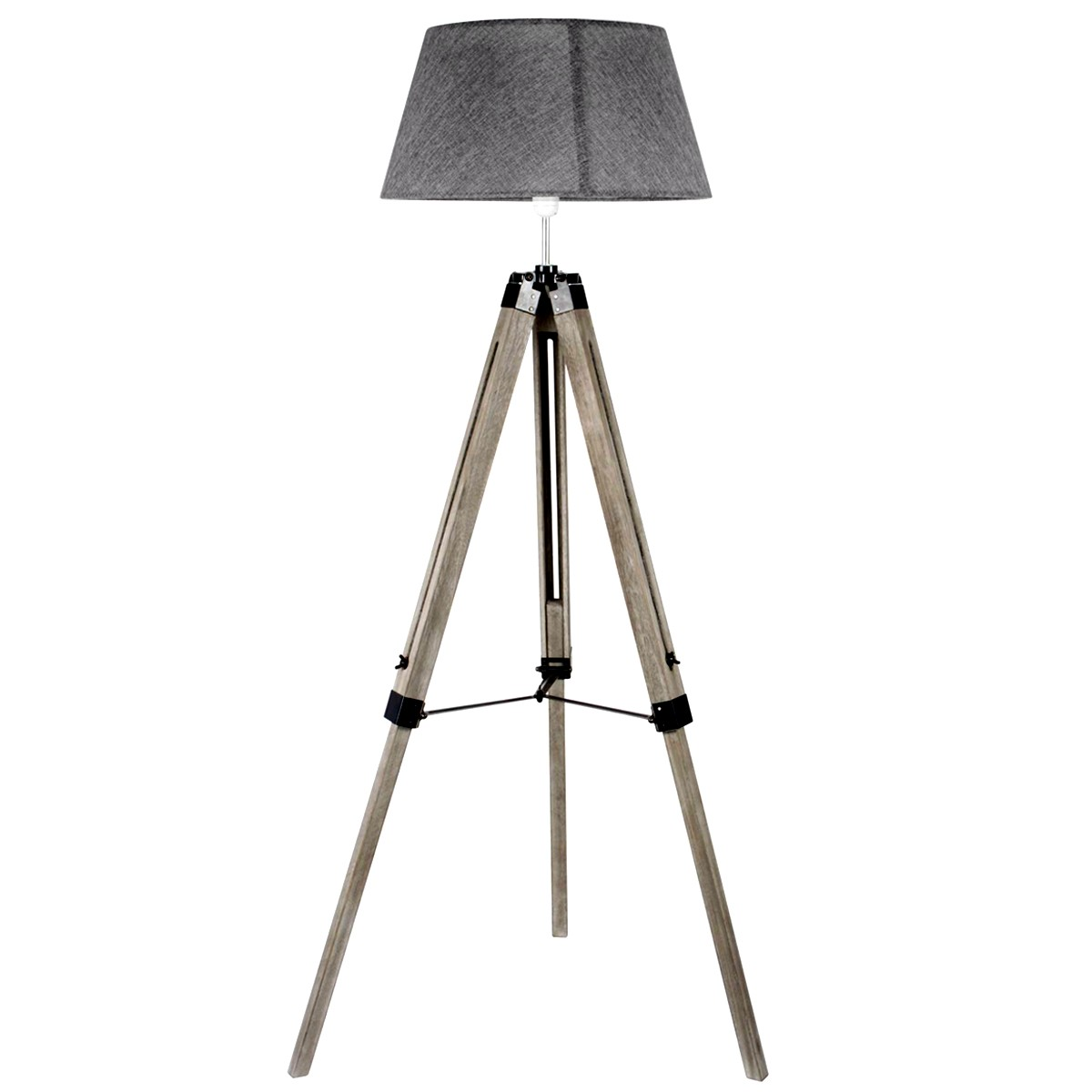 lampadaire tr pied navy bois et gris koya design. Black Bedroom Furniture Sets. Home Design Ideas