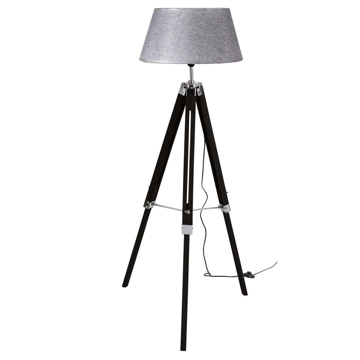 lampadaire tr pied navy noir et gris koya design. Black Bedroom Furniture Sets. Home Design Ideas