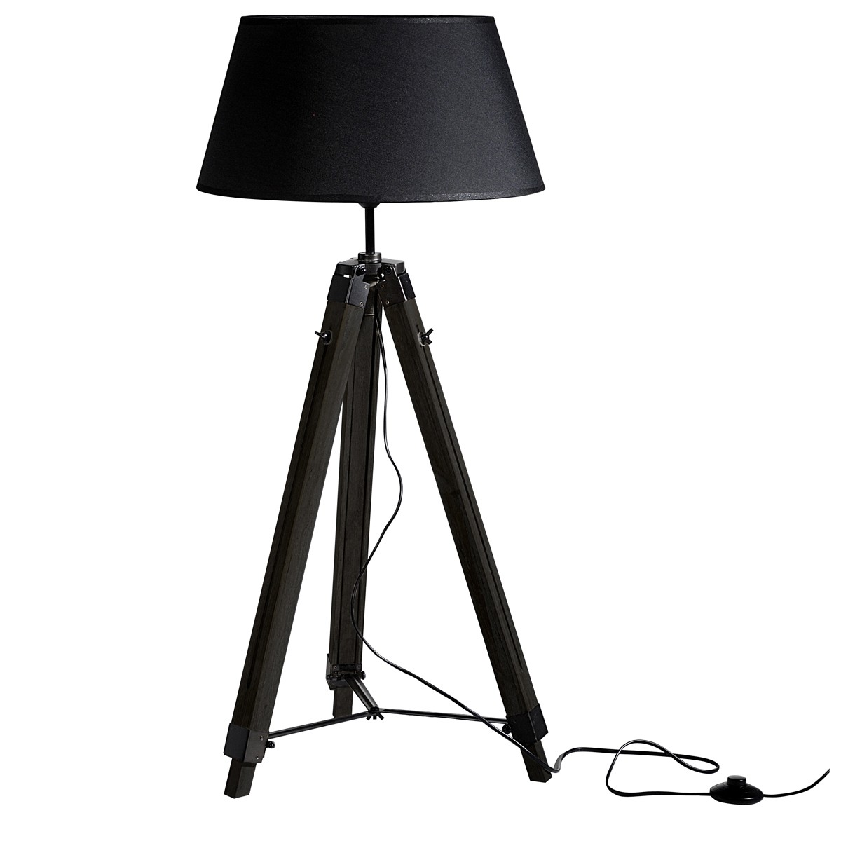 lampadaire tr pied navy noir koya design. Black Bedroom Furniture Sets. Home Design Ideas