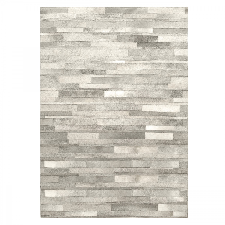 Tapis cuir gris 140x200 cm