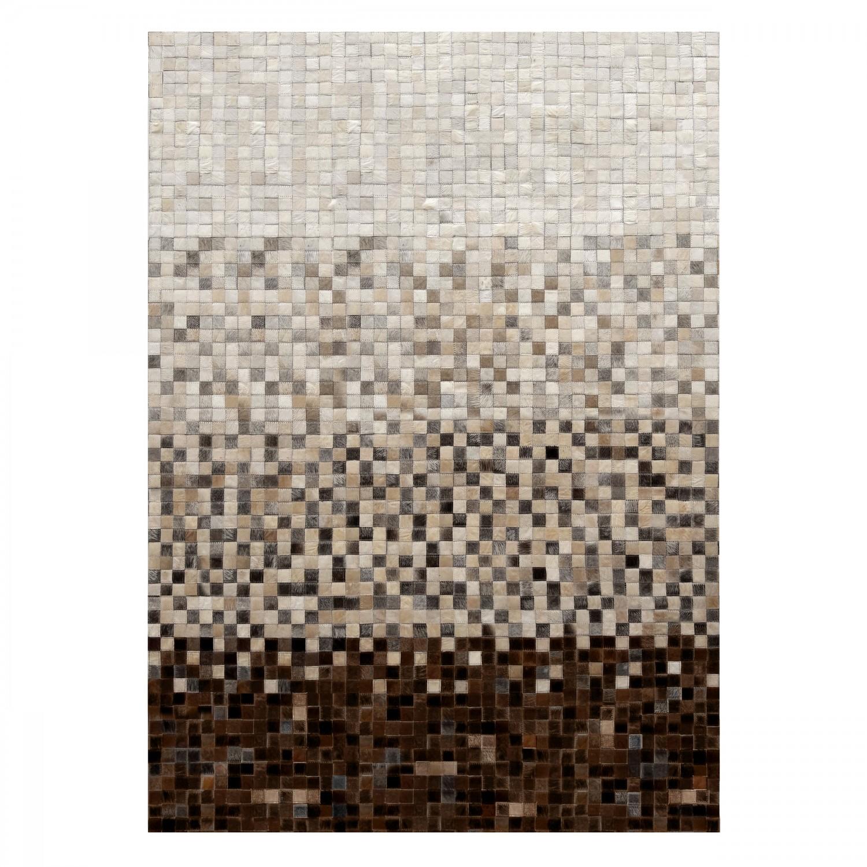 Tapis en cuir patchwork marron 140x200 cm