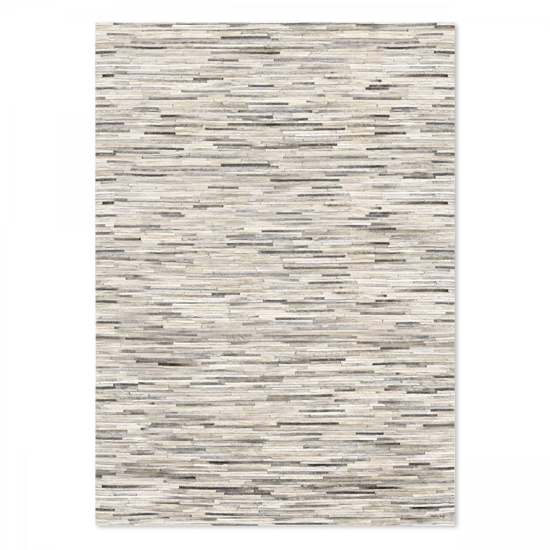 Tapis en cuir gris 140x200 cm