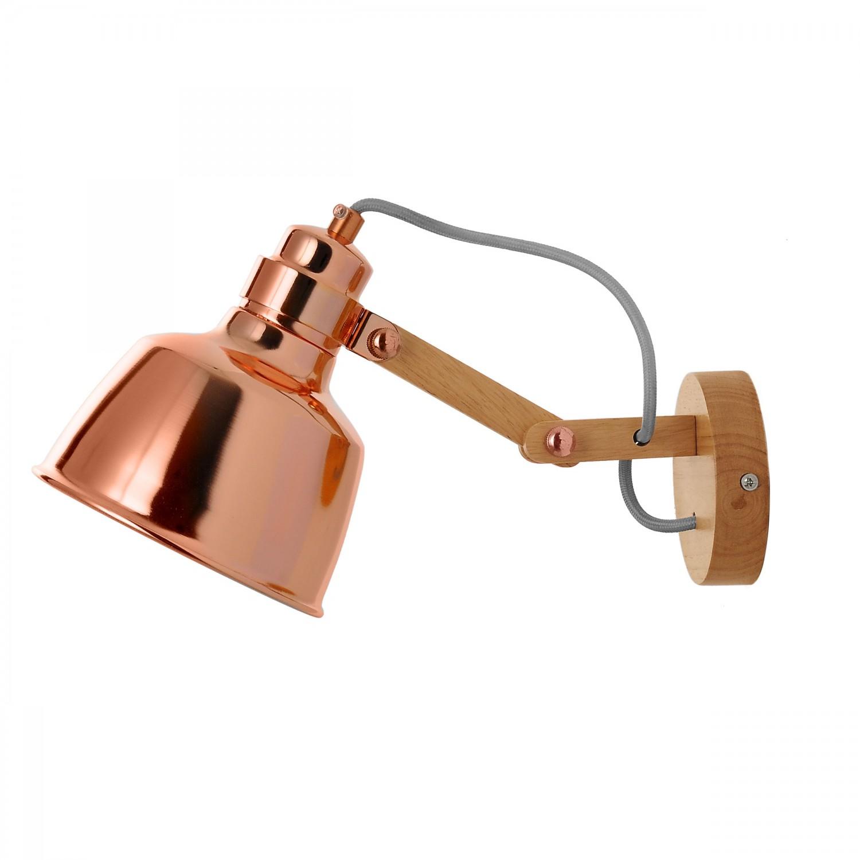 Applique en métal Morphée finition cuivre