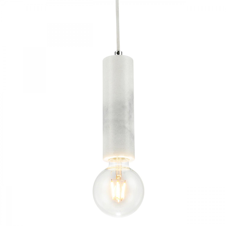Suspension Neomea marbre blanc (ampoule incluse)