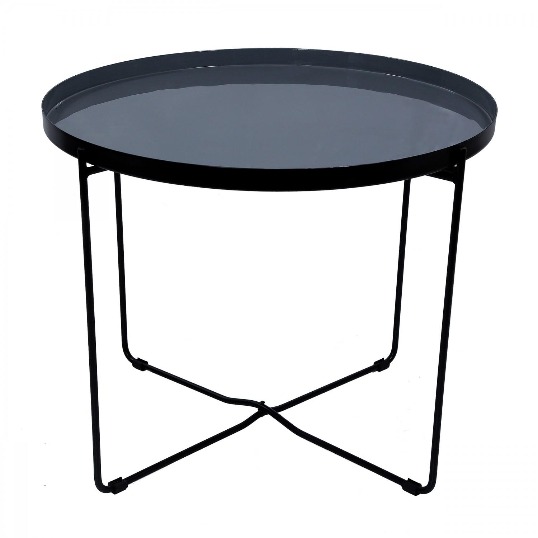 table basse ronde vahdat grise koya design. Black Bedroom Furniture Sets. Home Design Ideas