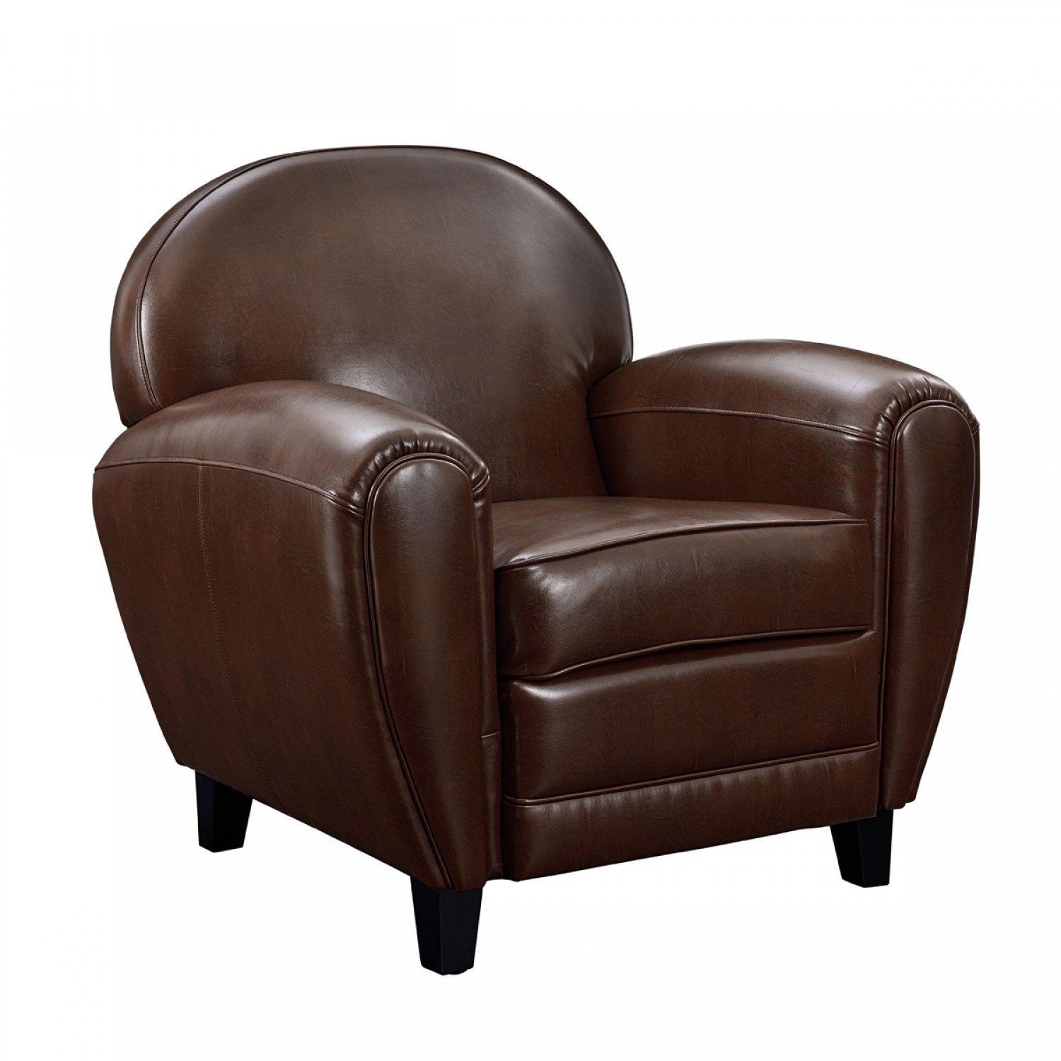 fauteuil club marron koya design. Black Bedroom Furniture Sets. Home Design Ideas