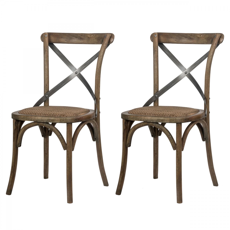 chaise rustique lot de 2 - Chaise Rustique