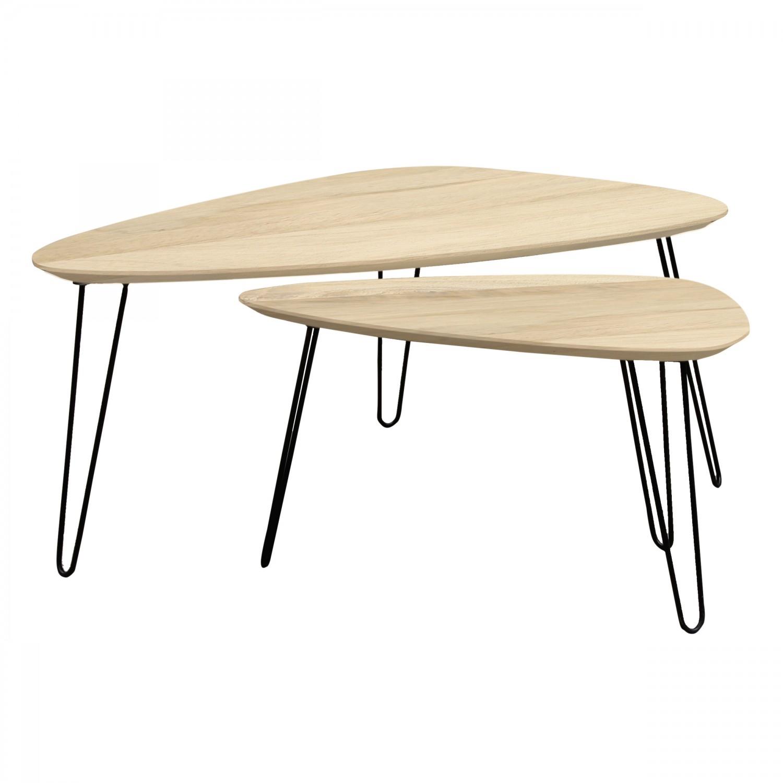 Table Basse Gigogne En Bois Aspen Lot De 2 Koya Design