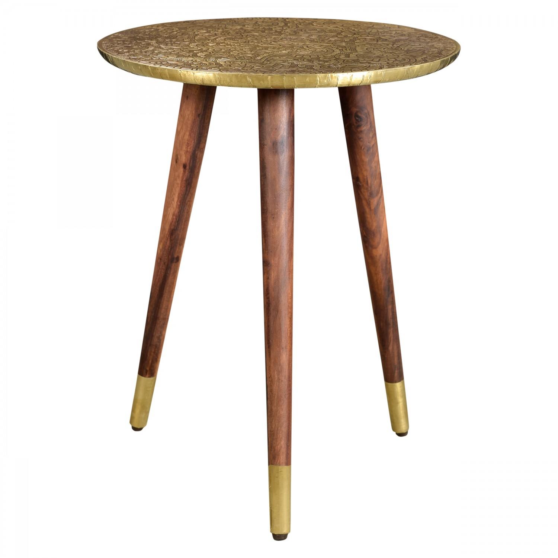 table d 39 appoint ronde goa dor e koya design. Black Bedroom Furniture Sets. Home Design Ideas