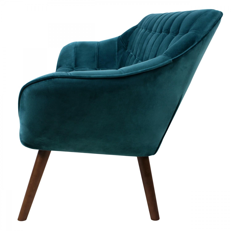 canap benjamin 3 places en velours bleu turquoise canap s fauteuils salon koya design. Black Bedroom Furniture Sets. Home Design Ideas