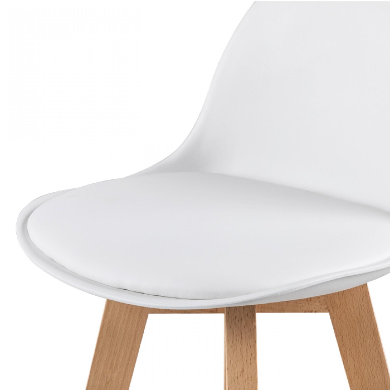 chaise de bar scandinave blanche lot de 2 tabourets de. Black Bedroom Furniture Sets. Home Design Ideas