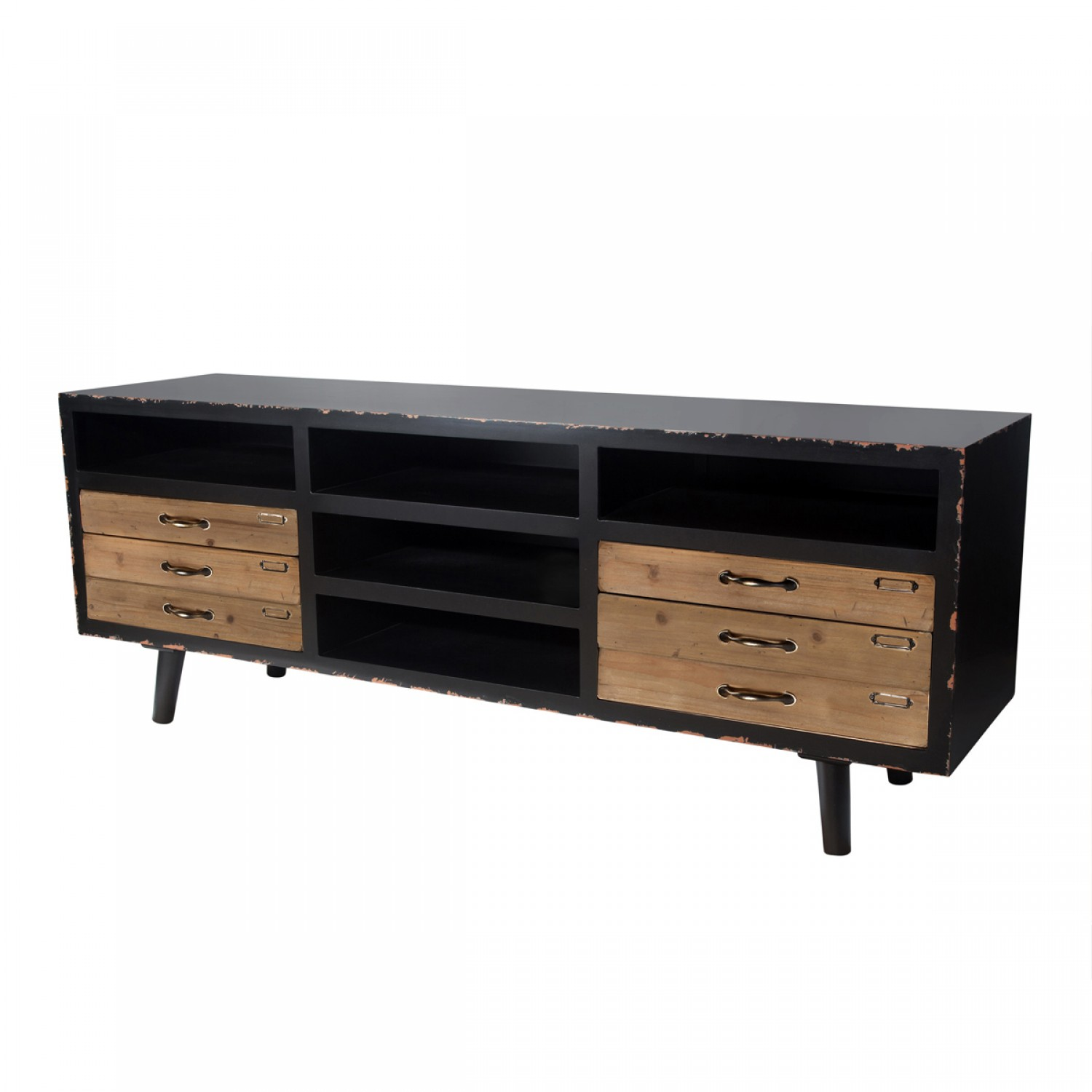 meuble tv vintage koya design. Black Bedroom Furniture Sets. Home Design Ideas