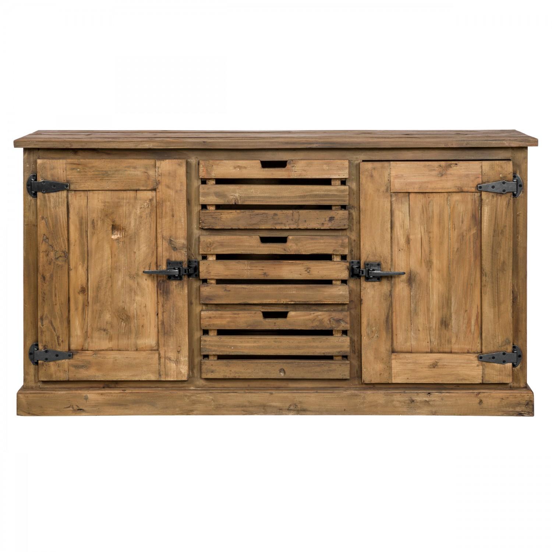 Buffet Atlantis en bois 2 portes 3 tiroirs