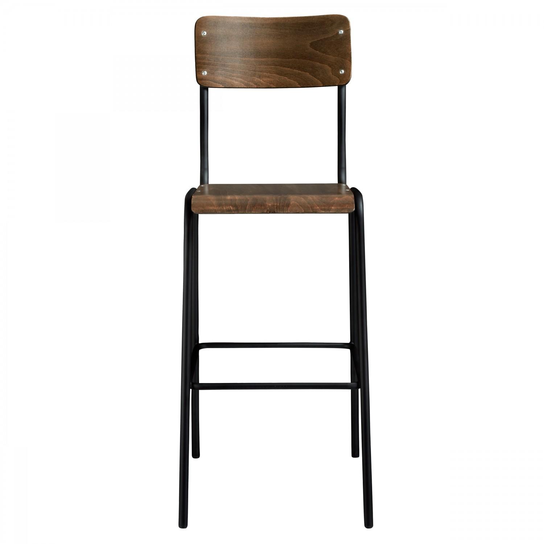 Chaise de bar d'écolier Nibodh  en bois (lot de 2)