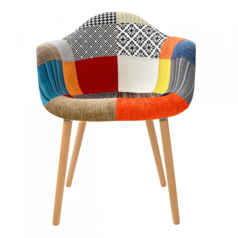 Fauteuil rebecca patchwork koya design for Salon patchwork