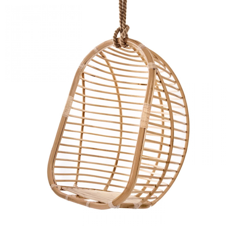 fauteuil jaidev suspendre en rotin naturel canap s. Black Bedroom Furniture Sets. Home Design Ideas