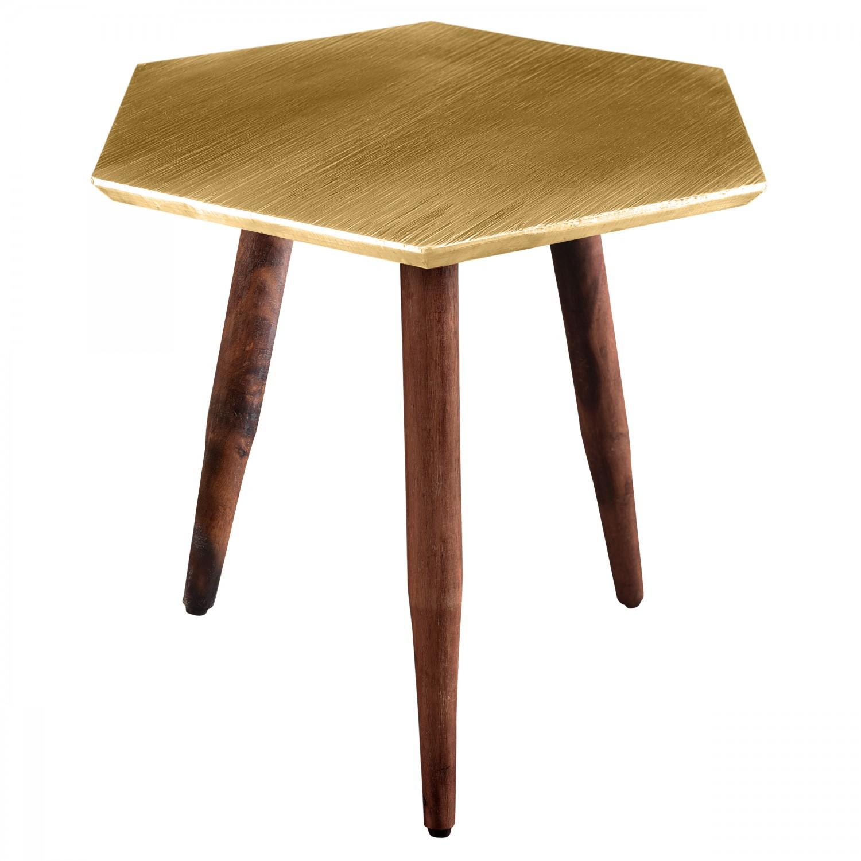 table basse hexagonale bali dor e salon koya design. Black Bedroom Furniture Sets. Home Design Ideas