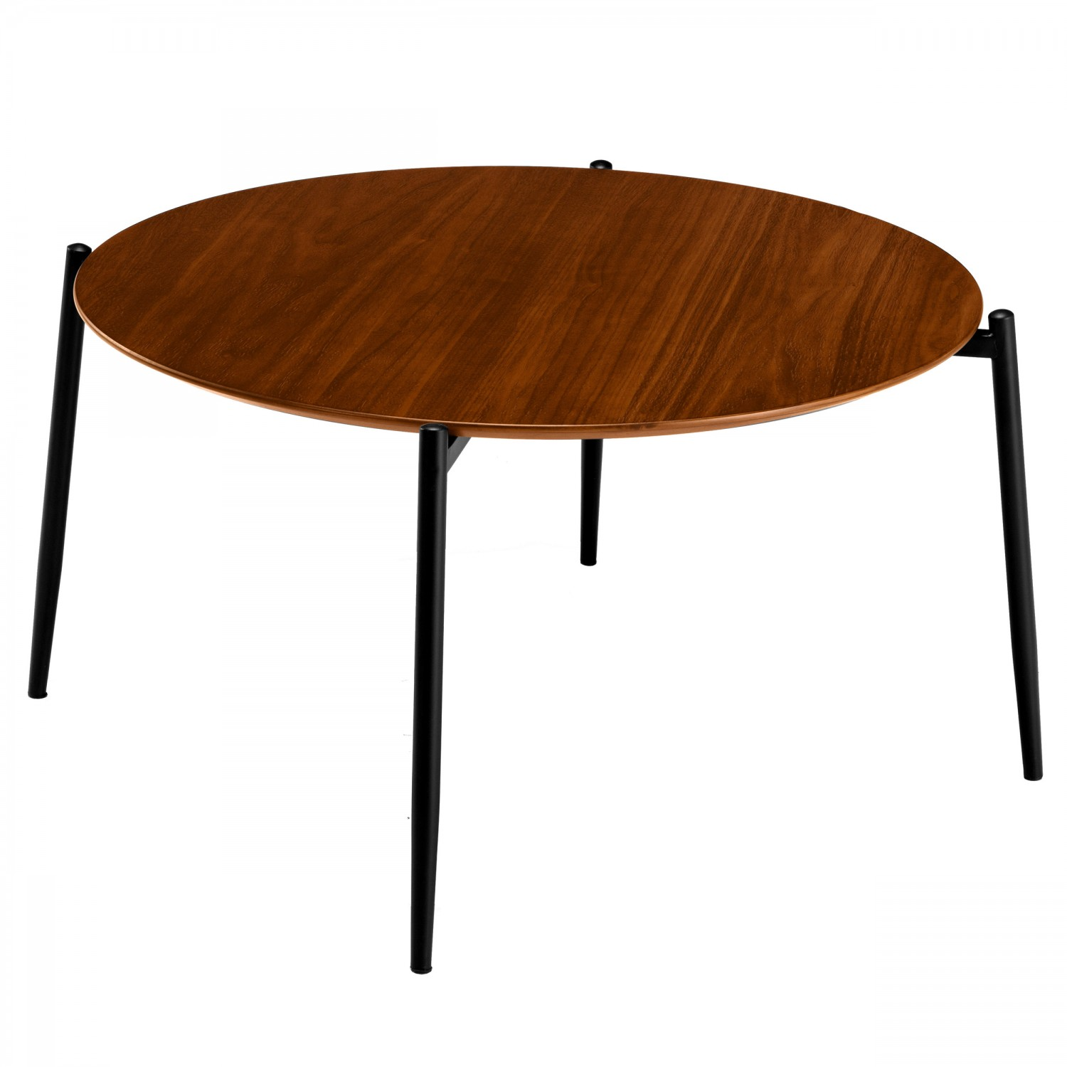 table basse ronde narsi en bois noir salon koya design. Black Bedroom Furniture Sets. Home Design Ideas