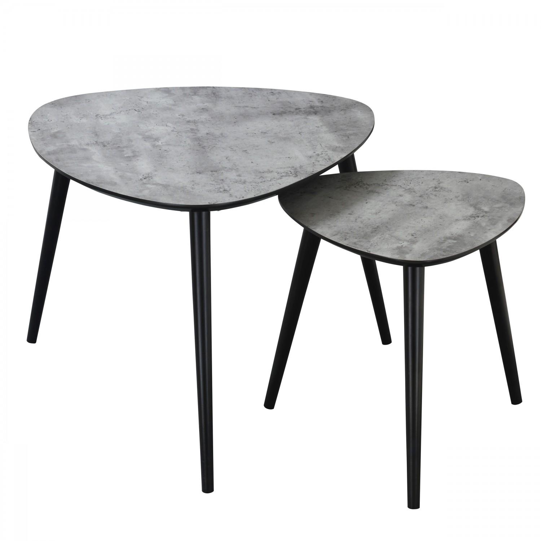 Table basse Anja effet béton (Lot de 2)