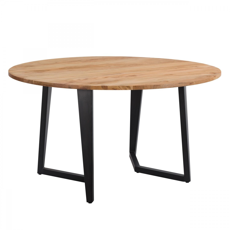 acheter table ronde plateau bois pieds metal