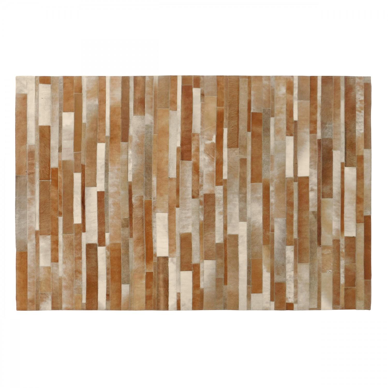 tapis peau de vache beige 140x200cm - Tapis Peau