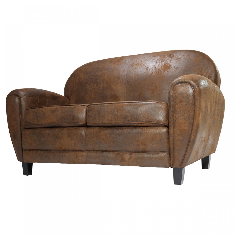 canap club marron vieilli koya design. Black Bedroom Furniture Sets. Home Design Ideas