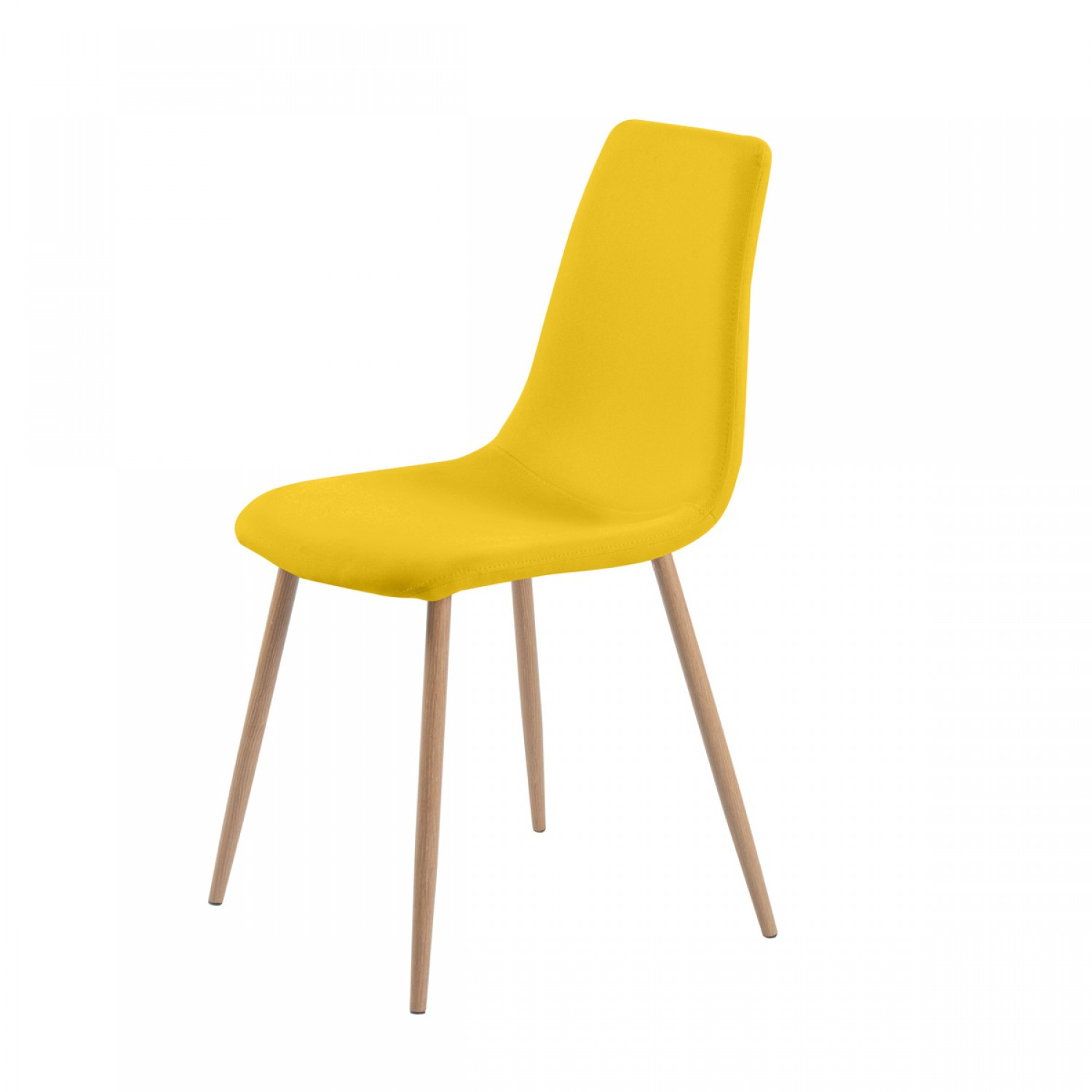 Chaise paula jaune lot de 2 koya design for Chaise jaune design