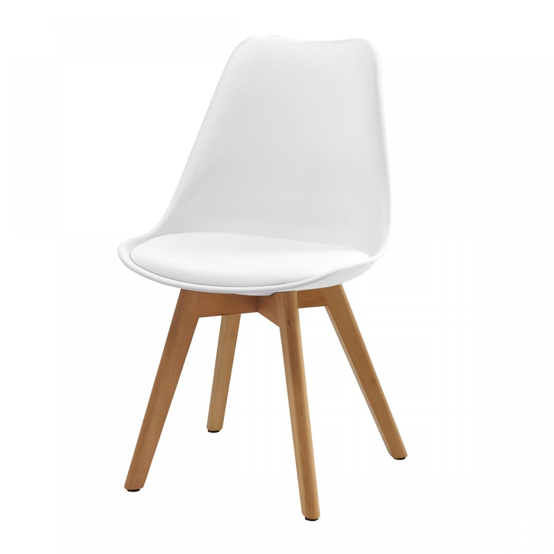 chaise scandinave blanche lot de 2 koya design. Black Bedroom Furniture Sets. Home Design Ideas