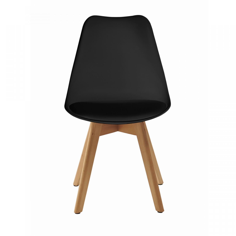 chaise scandinave noire lot de 2 koya design. Black Bedroom Furniture Sets. Home Design Ideas