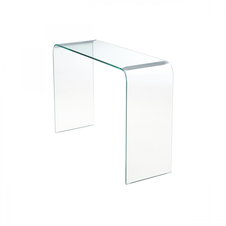 Console Madern en verre trempé transparent 110 cm