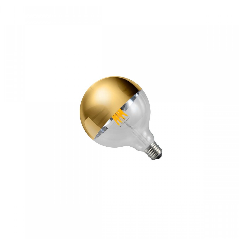 Ampoule globe filament LED bicolore dorée E27