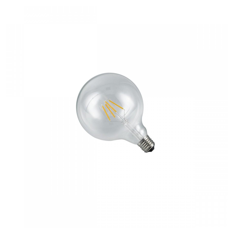 Ampoule globe filament LED transparente E27