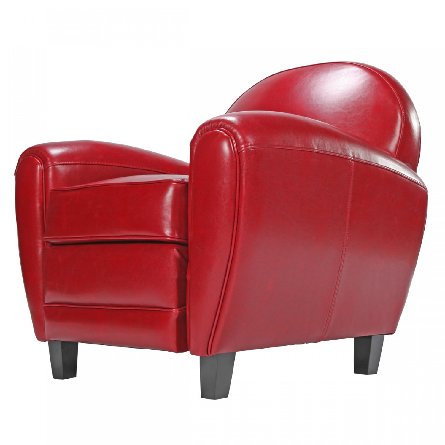 fauteuil club rouge koya design. Black Bedroom Furniture Sets. Home Design Ideas