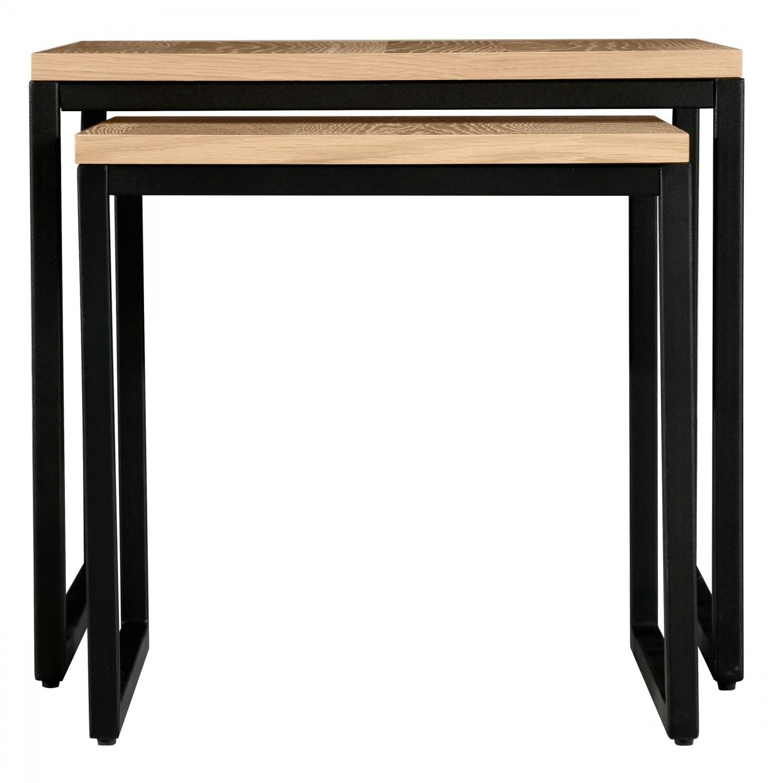 tables basses gigognes carr es thelma lot de 2 koya design. Black Bedroom Furniture Sets. Home Design Ideas