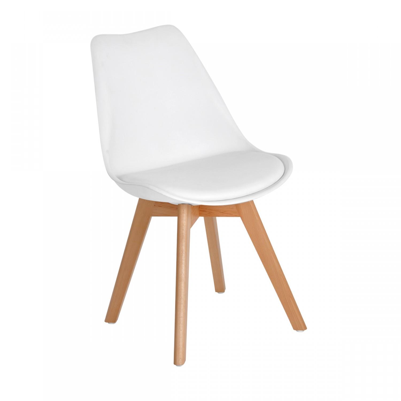 Chaise scandinave blanche lot de 2 koya design for Chaises scandinaves blanches