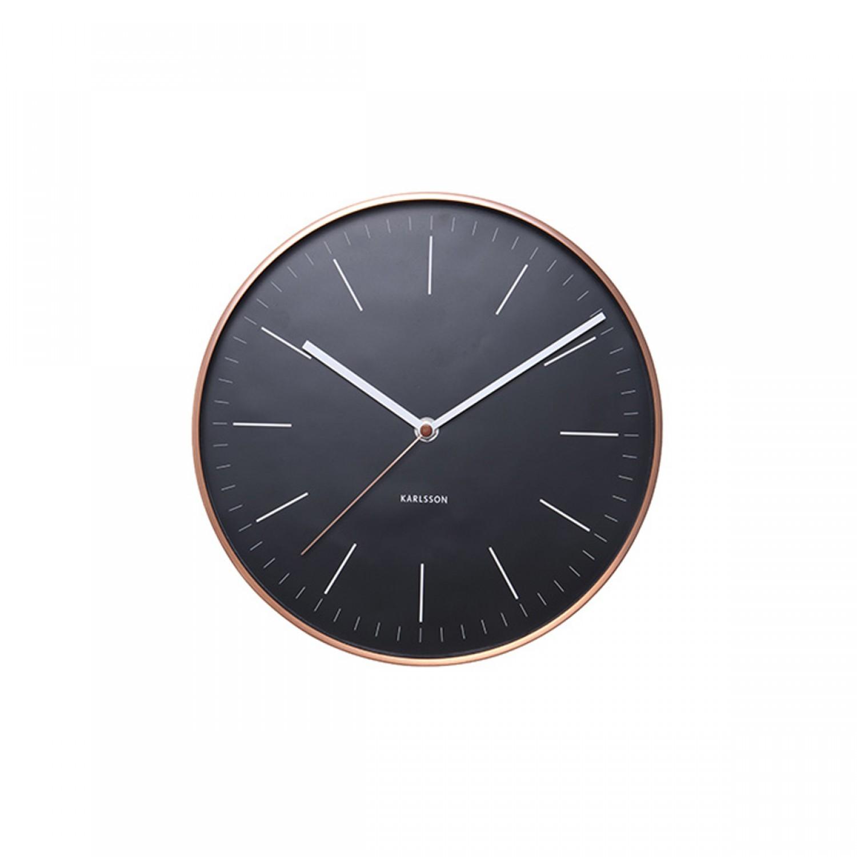 Horloge noire Anton