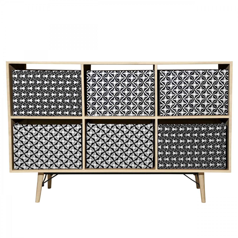 meuble de rangement 6 pani res makalu koya design. Black Bedroom Furniture Sets. Home Design Ideas